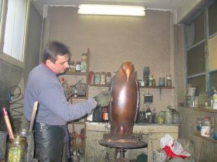 fonderie, bronze, atelier, sculpture